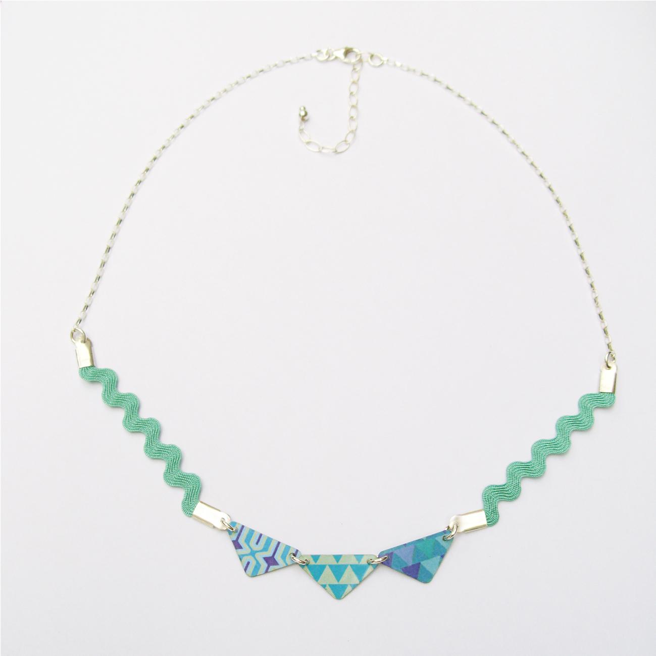 Collier Cléssia Bleu Vert - argent 925