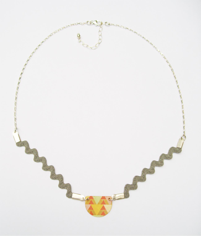 Collier Luna jaune - argent 925
